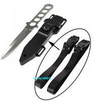 2pcs Quick Release Rubber Knife Strap Scuba Dive Snorkeling Quick Release Buckle