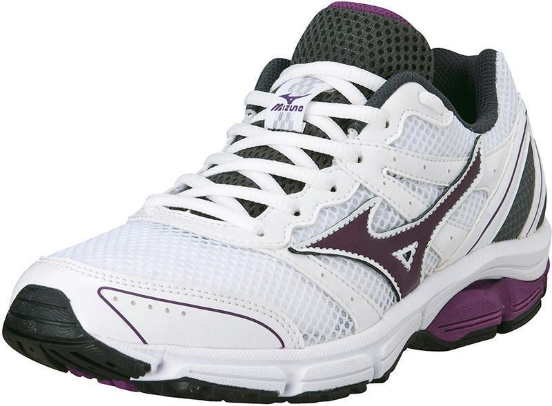 Mizuno Scarpa Running Sneaker women Wave Impetus 2 Bianco purple  grey  free shipping worldwide