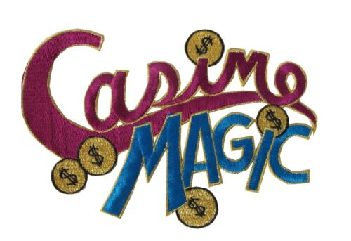 Purplish-Red,Blue Casino Magic w//Money Embroidery Iron On Applique Patch