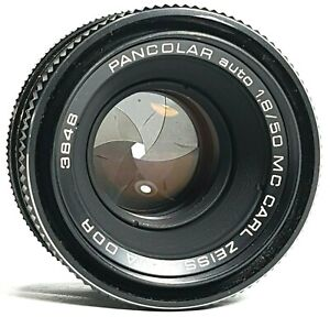 Carl-Zeiss-Jena-DDR-Pancolar-MC-50mm-f1-8-Prime-Lens-m42-Mount-UK-Schnelle-Post