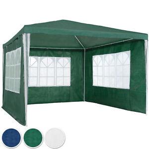 Pavillon-Garten-Party-Camping-Fest-Event-Zelt-Bier-mit-Seitenteile-3x3-m
