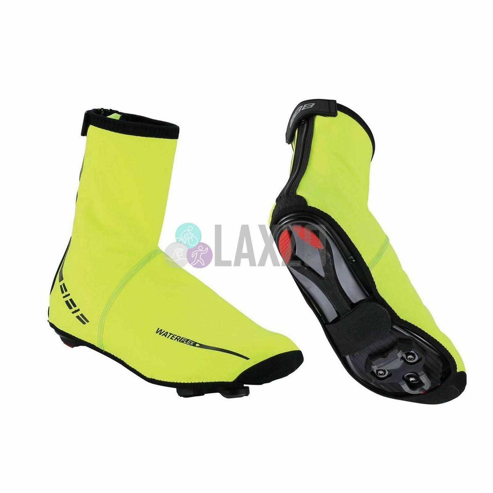 Wasser Flex Überschuhe Pu Gummi Innen Microfleece Ykk-Zipper Neon Gelb 47-48