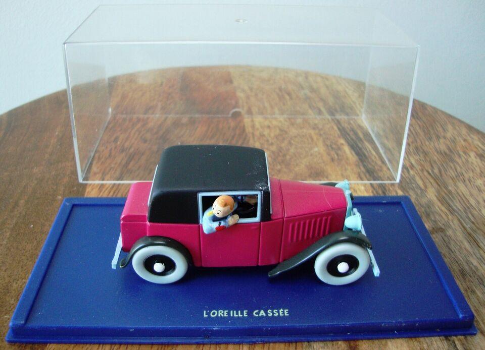 Modelbil, SOLGT - Tintinbil Rosengart coupe spider 1929,