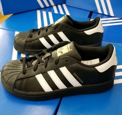 Adidas Superstar C # BA8379 Black /& White Pre School Little Kids SZ 10.5-3