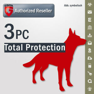 G Data Total Protection 2019 VOLLVERSION 3 PC GDATA Security 2018 DE