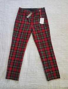 in taglie J da tartan Crew Pants Crop bidirezionale donna Tutte lana Cameron le Slim stretch xv56qwI