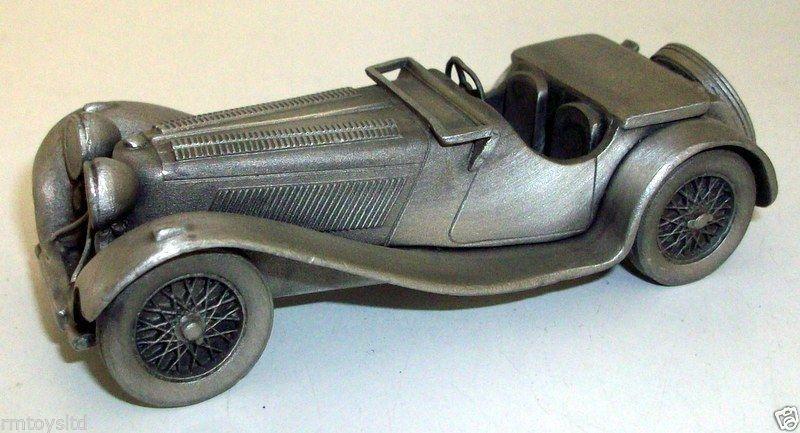 DANBURY MINT - DMP3 PEWTER MODEL 1939 JAGUAR SS100 3 1 4 LITRE