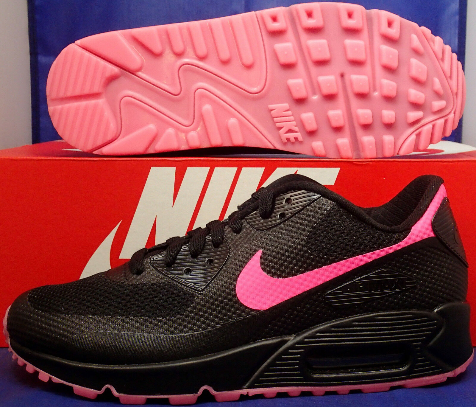 Womens Nike Air Max 90 Hyperfuse Premium iD Black Pink Price reduction