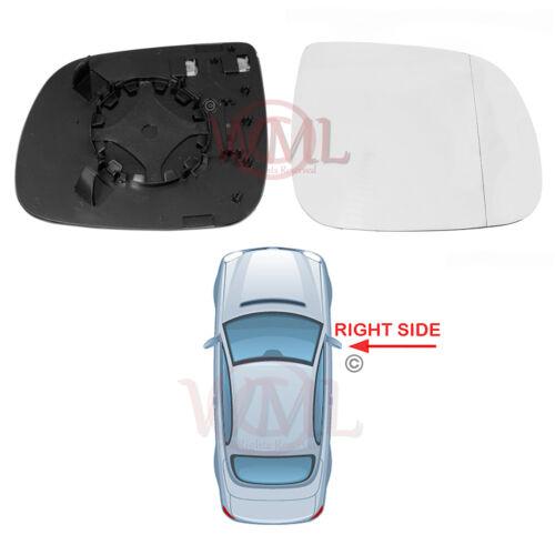 /> 2014 porte miroir verre argent Asphérique Audi Q7 2010 Chauffant /& base côté droit