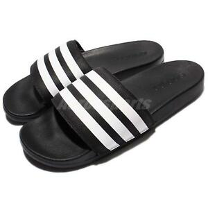 new styles 3335e 51066 Image is loading adidas-Adilette-CF-Cloudfoam-Plus-Black-White-Men-
