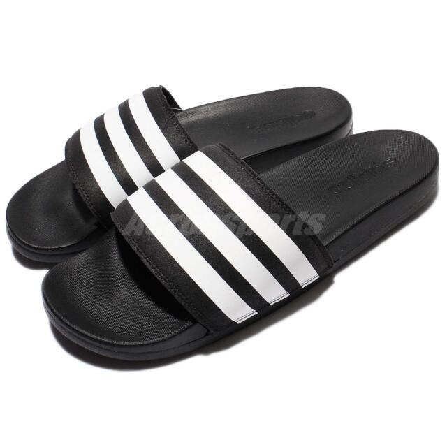 adidas Adilette CF Cloudfoam Plus Black White Men Sandal Slide Slipper AQ4935