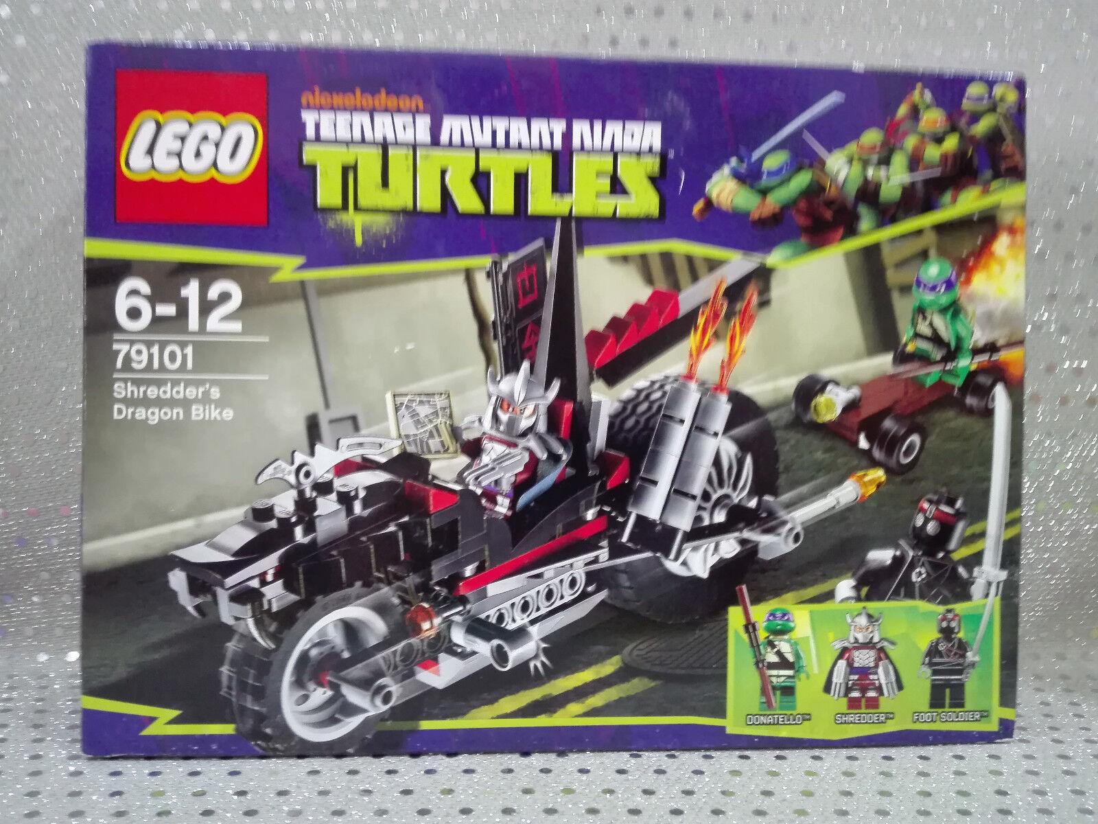 Lego 79101 Teenage Mutant Ninja Turtles Turtles Turtles Tortugas Ninja Sh rojo der´s Dragon Bike.  garantizado