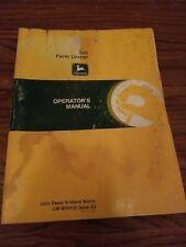John Deere 260 Farm Loader Operators Manual Om W35105 Issue E3
