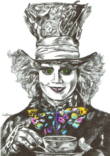 Mad Hatter and Cheshire Cat Prints Alice in Wonderland art,character art prints