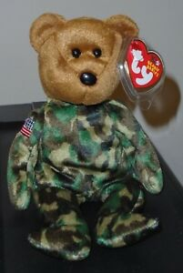 4e45ef550fe Ty Beanie Baby ~ HERO the USA Army Military USO Bear (8.5 Inch) MWMT ...