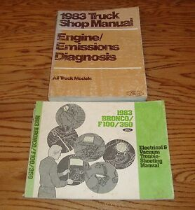 1983 Ford Truck Shop Service Manual + Bronco F100/350 ...