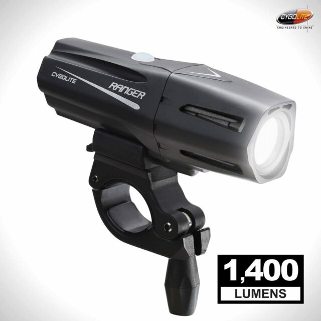 Cygolite Metro 400 Lumen USB Rechargeable Bicycle Headlight Black 400 Lumens