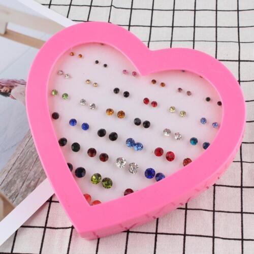 72 Pair Flower wholesale Kid Jewellery Assorted Rhinestone Ear stud earrings