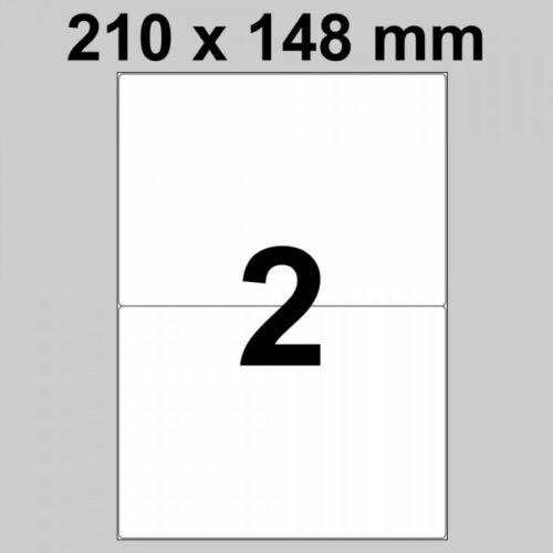 500 Bogen Etiketten auf DIN A4 Bogen 210 x 148 mm 1.000 Stück