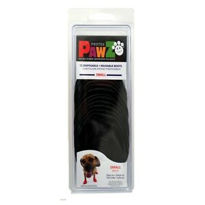PawZ-Protex-Dog-Boots-Water-Proof-Paws-Disposable-Reusable-Small-Black