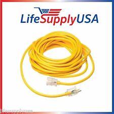 10/3 75 Feet SJT Lighted End Extension Cord 15 Amp 125 Volt 1875 Watt