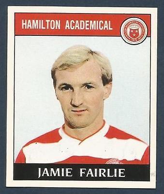 PANINI FOOTBALL 89-#388-HAMILTON-MOTHERWELL-CLYDEBANK-AIRDRIE-JAMIE FAIRLIE