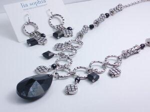 Lia-Sophia-style-Crosshatch-necklace-earrings-set