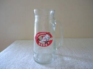 Vintage-Cincinnati-Reds-Glass-Mug-034-BEAUTIFUL-COLLECTIBLE-DISPLAYABLE-MUG-034