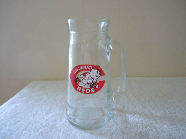 Vintage Cincinnati Reds Glass Mug