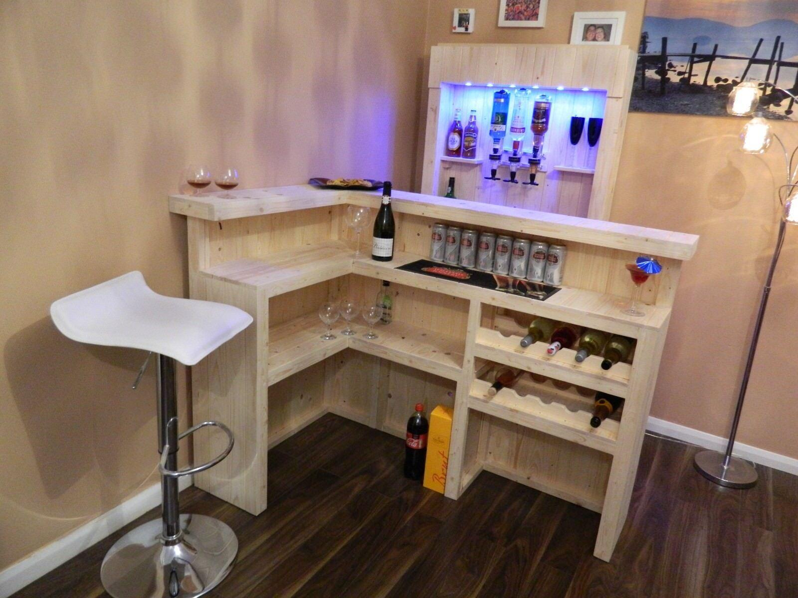 Home Bar avec lumières et optique-PIN-bar MAN CAVE, LOG CABIN, Boissons, Parti 006