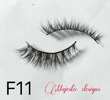 2D Real Mink Eyelashes Makeup Thick Black Eye Lashes #F11
