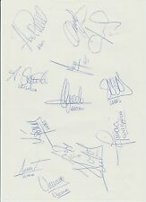 ATHLETICO MADRID COPA DEL REY WINNERS 1992 RARE HAND SIGNED A4 SHEETS X 20 SIGS