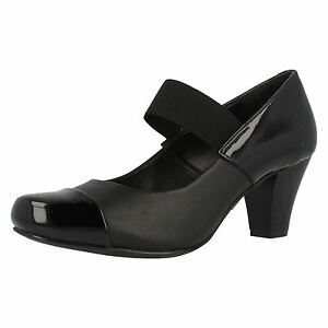 f27f0a015fb8b2 Clarks  Alpine Angel  ladies Black Leather Mary Jane Heeled Court ...