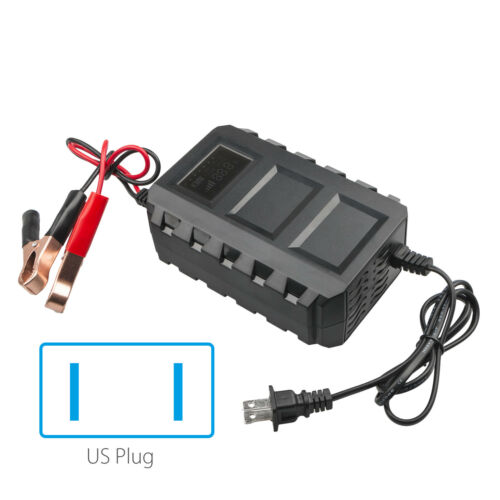 12V 20A Car Battery Lead Acid Charger Motorcycle Intelligent LCD Input 110 V Hot