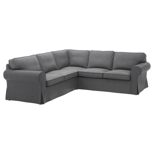 Attractive Original IKEA Cover For Ektorp Sectional, 4 Seat Corner   Nordvalla Dark  Gray