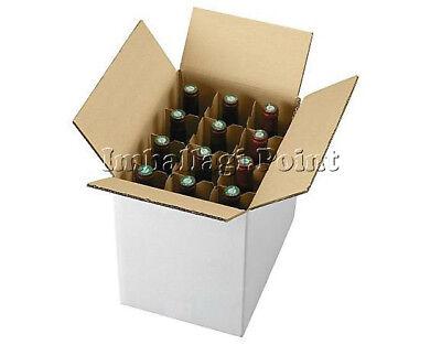 1 Piece Cardboard Box Shipping 12 Bottles-Wine-liquor with separator