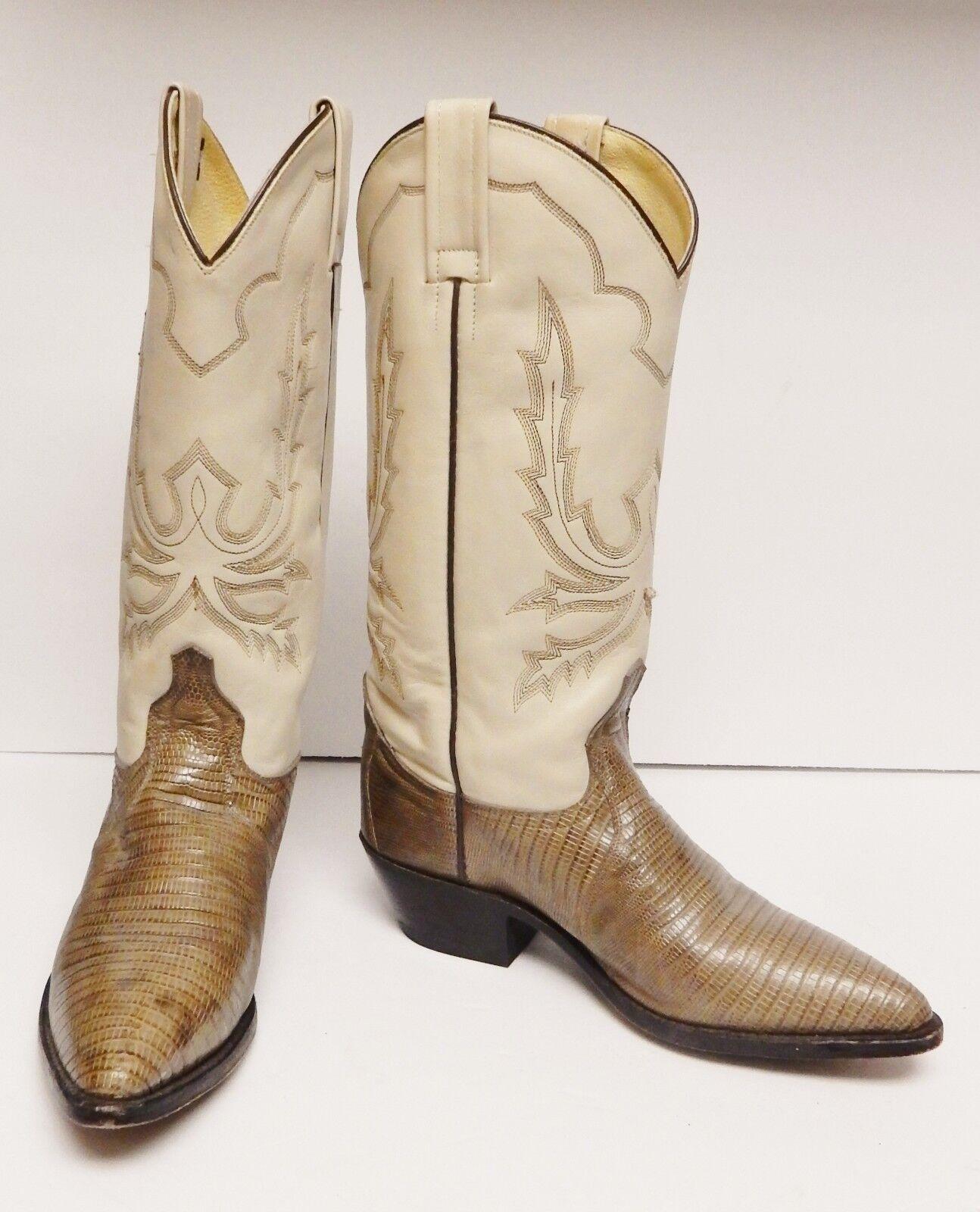 Dan Post Lizard stivali Western Cowboy Leather  8734 Tan Marronee Mexico Dimensione 7  liquidazione fino al 70%