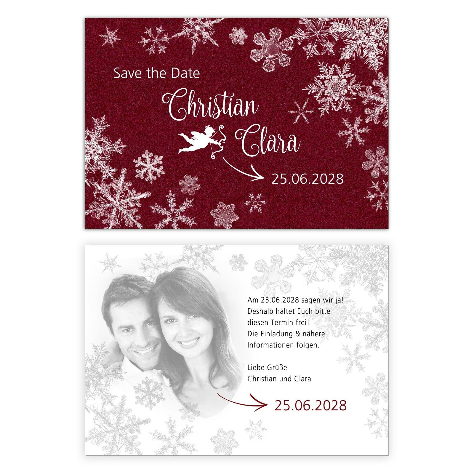Personalisierte Save the Date, Einladungskarten Hochzeit Hochzeit Hochzeit – Weihnachten Winter  | Professionelles Design  | Garantiere Qualität und Quantität  | Shopping Online  b192b2