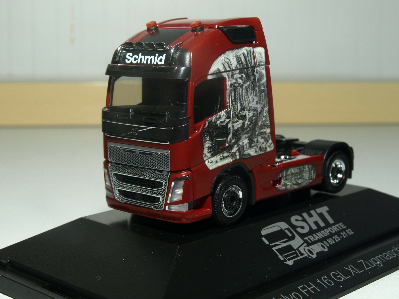 Herpa Volvo FH GL XL tractor Sht transportes transportes transportes en PC 110945 be424d