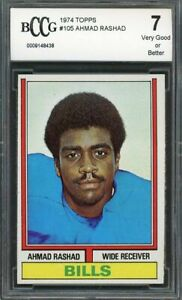 1974-topps-105-AHMAD-RASHAD-buffalo-bills-rookie-card-BGS-BCCG-7