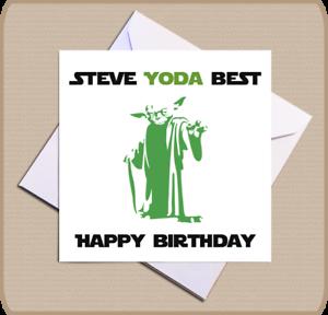 Personalised Star Wars Yoda Birthday Card Yoda Best Happy Birthday