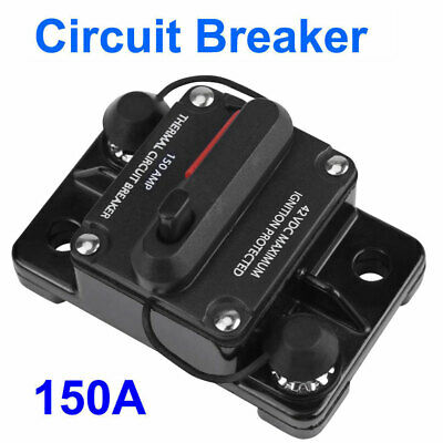30-150A AMP Circuit Breaker Car Marine Stereo Audio Inline Replace Fuse 12V-42V