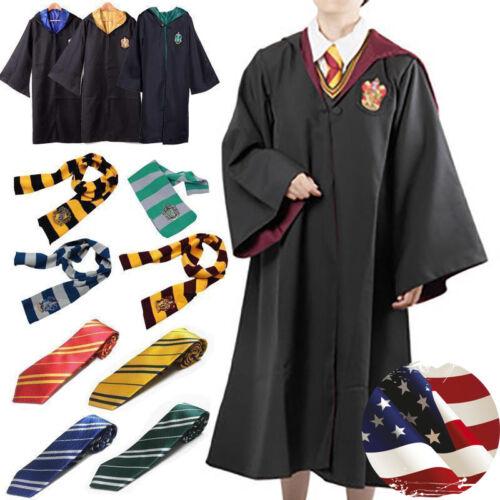 Scarf Set Cos Tie Harry Potter Gryffindor Robe Cloak Adult Kid Custom Cape