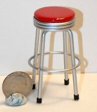 Dollhouse Miniature 1950's Red Bar Stool Kitchen 1:12 scale H26 Dollys Gallery