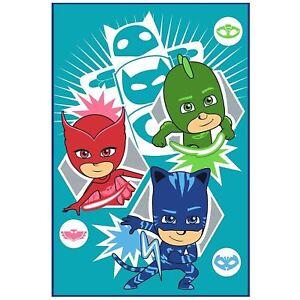 Pj-Masks-Hero-Couverture-Polaire-Enfants-Jete-de-Lit-Catboy-Gekko-Owlette-Neuf