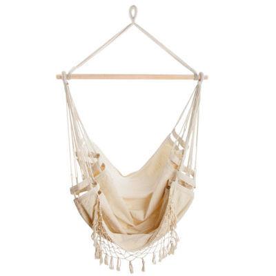 Deluxe Hanging Hammock Chair Swing Luxury Comfort Outdoor Indoor Camping Frame