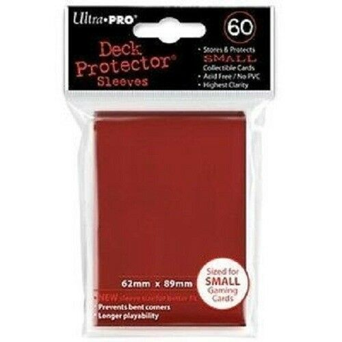720 Ultra Pro Deck Protector Card Sleeves Small Red Yugioh Vanguard 12 Packs