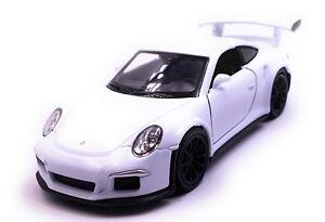 Porsche-GT3-Rs-Auto-Sportive-Modellino-Auto-Auto-Bianco-Scala-1-3-4-Licenza