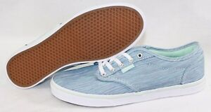 497315f5a2c4 NEW Womens VANS Atwood Low Canvas Textile Blue Green Classic ...