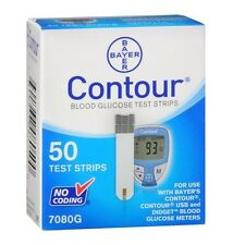 Bayer Contour Bloood Glucose Test Strips 100 (2 of 50) Exp 5/2018+ Retail Sealed